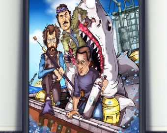 JAWS Art Print - Limited Edition - Signed By Artist