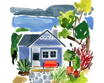Little Cottage Archival Print