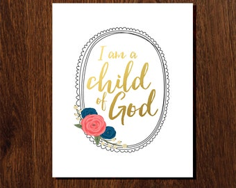 I am a child of God (gold)