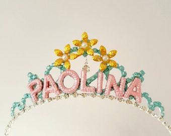 Personalized Crown Birthday Gift, Custom Birthday Crown Tiara, Name Tiara Crown,Birthday Girl Crown,Princess Birthday Tiara,Birthday Crown