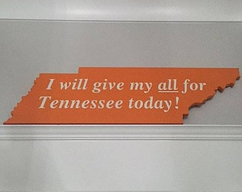 "Official SlapSign - University of Tennessee ""I Will Give My All For Tennessee Today"""
