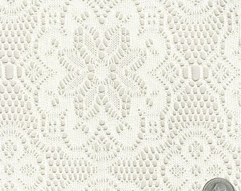 Black Crochet Lace Fabric Knit Embroidery Organic Woven Soft