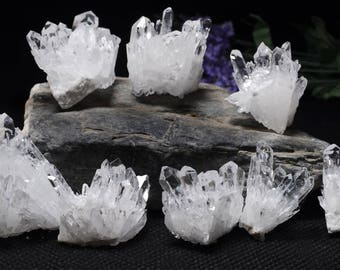 Natural Clear Crystal cluster-Small Size/Crystal quartz cluster