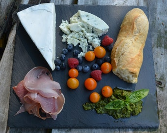 Slate Cheese Board, Serving Platter, Plate, Appetizer Tray, WEDDING GIFT, Thank You, Chalkboard Sign, Board, Hot Plate