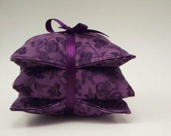Lavender Sachets - Deep Purple and Amethyst- Lavendar Aromatherapy
