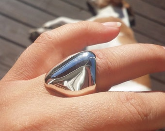 One of a kind sterling silver ring