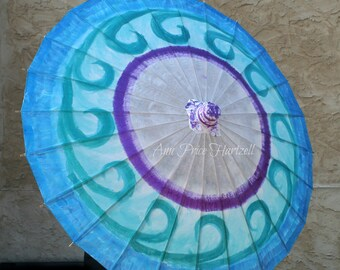 Parasol - Blue Waves Swirl Parasol