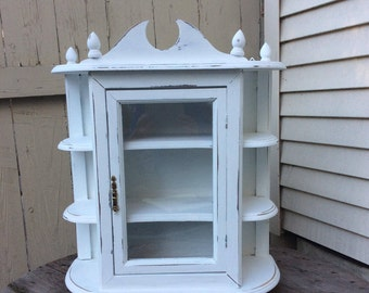 Shabby Chic Ginormous Curio Cabinet in Bright Snow White