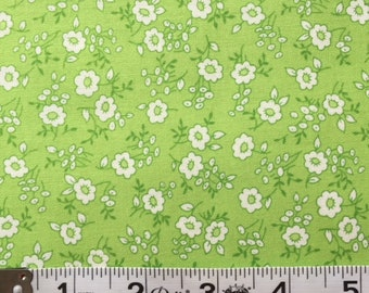 Lakehouse Dry Goods Tiny Toile Green 1930's Reproduction Quilt Fabric