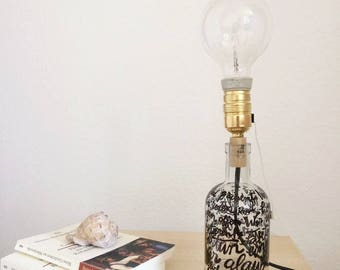 Bottle lamp w/ personalized message