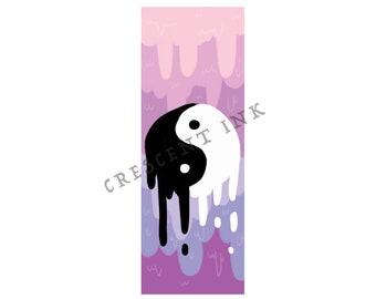 Yin & Yang Pastel Bookmark
