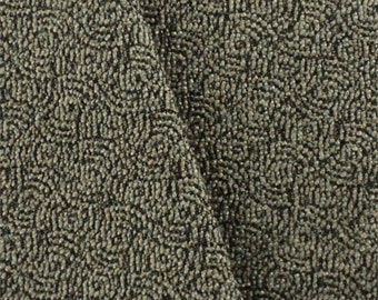 Pumice Beige/Black STI Tide Pool Jacquard Upholstery Fabric, Fabric By The Yard