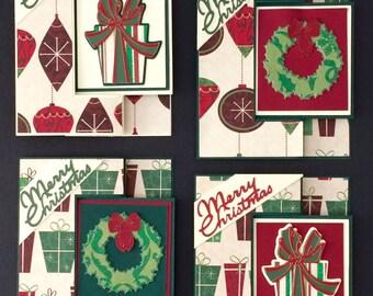 Christmas Giftcard Holder, Set of 4