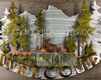Buck and Doe Metal Wall Sculpture