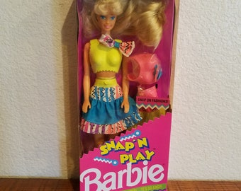 Vintage 1991 Barbie doll, Snap and Play Barbie, Collectible Barbie, Matte, Retro Toys, 1990s Toys, Vintage Barbie, Dolls for Girls, Birthday