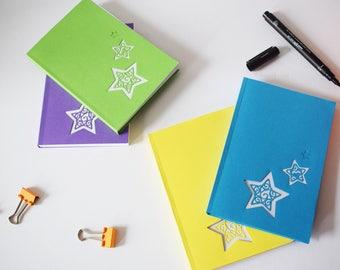 Star notebook, A6, notepad, bullet journal, organiser, sketchbook, stationery lover, gift for him, gift for her