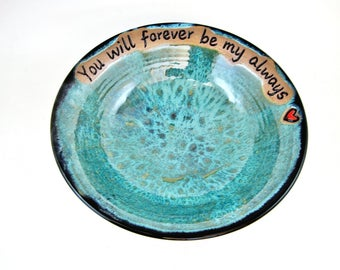 Valentine's day gift, Pottery Wedding Anniversary gift - In stock 211 WB