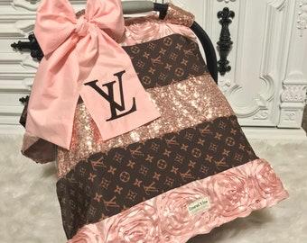 LV Inspried Custom Car Seat Canopy Cover