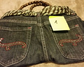 Unique re-purposed denim purses--one of a kind-perfect gift for the one that has everything