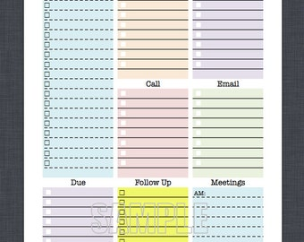 free printable daily planner for work