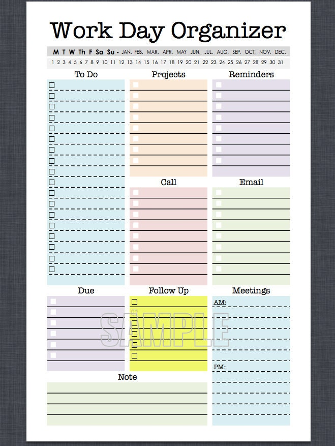 how to make a personal calendar office works