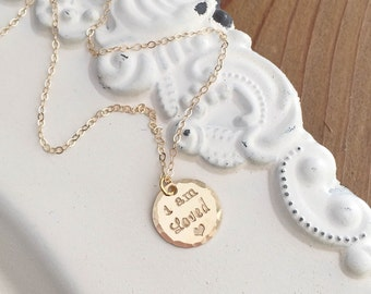 Mothers Day Gift . Love Necklace . I Am Loved . Loved Necklace . Love Jewelry . Gift for Wife . Gift for Daughter . Handmade Jewelry