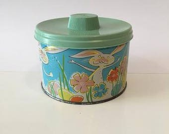 Vintage 1960s Easter Candy Tin Canister
