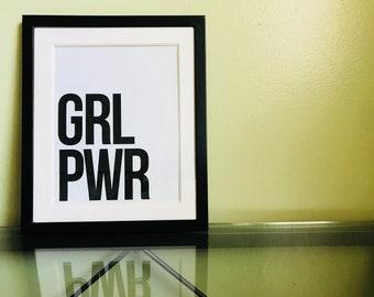 Printable Art | Digital Download | Instant Art | Girl Power | Inspirational Art | Feminism