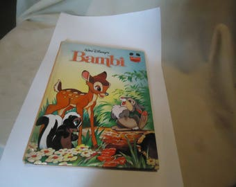 Vintage 1996 Walt Disney's Bambi Hardback Book, Children's, collectable