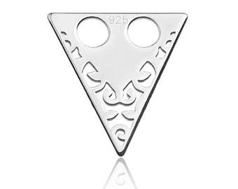 Charm Triangle open-work (need no jumprings!) Sterling Silver 925