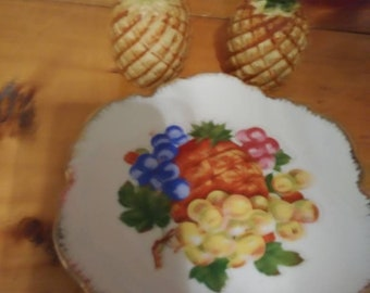Decorative Hanging Fruit Decor Plate and Matching Pineapple Salt and Pepper Shakers & Korean plate   Etsy