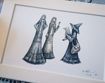 The Three Sisters original art