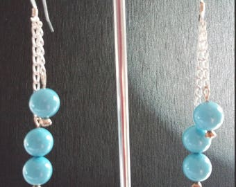 SALE: Swarovski Pearls, Sterling Silver Drop Earrings