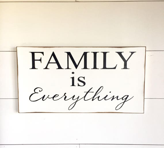 large wood sign family is everything subway sign family. Black Bedroom Furniture Sets. Home Design Ideas