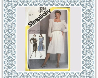 Simplicity 5336 (1981) Misses' pullover dress - Vintage Uncut Sewing Pattern