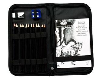 Royal & Langnickel Pencil Sketch Kit, Drawing Kit, Graphite Pencil Art Set, Sketching, Illustration, Scrapbooking, Anime, Manga; Affordable