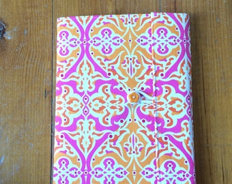 Porcelain Tile Fabric Covered Composition Book Cover - with pen and composition book, fabric covered notebook