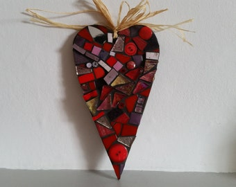 large mosaic heart