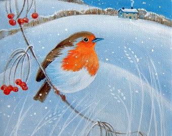 Winter Robin - Original art