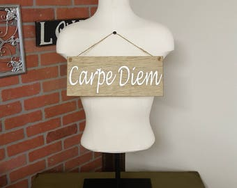 Carpe Diem, Seize the Day, Vintage Signs, Live Passionately, Famous Quotes, Positive Quotes, Rustic Signs, Life Quotes, Custom Wood Signs