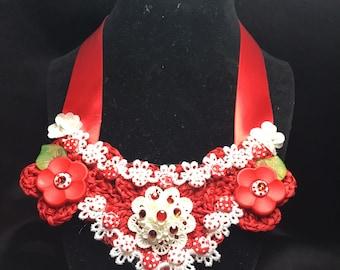 Crochet Girl's Necklace