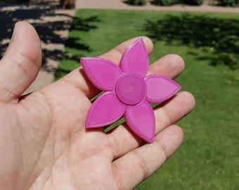 Custom Color Changing Girls Flower Fidget Spinner - Desk Toy - Focus Tool - Novelty USA edc