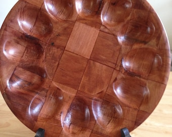 Woven Wood Deviled Egg Tray