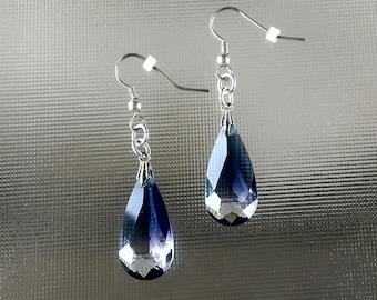Swarovski cyrstal teardrop earrings