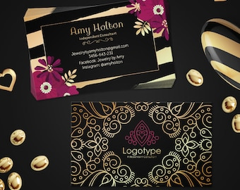 Paparazzi business cards free personalized paparazzi jewelry paparazzi business cards free personalized paparazzi jewelry consultant card black goldpink floral paparazzi luxury design colourmoves