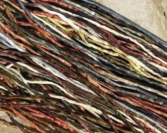 Neutral Silk Cords, Qty 10 to 100 Wholesale Silk Cord Assortment Bulk 2-3mm Cords, Hand Dyed Hand Sewn Strings Neutrals Jewelry Making Craft