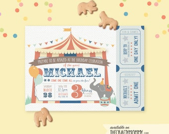 Circus Party Invitation