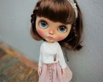 Hand embroidery and crochet : Blythe,pureneemo s,licca,jerryberry or similar size.