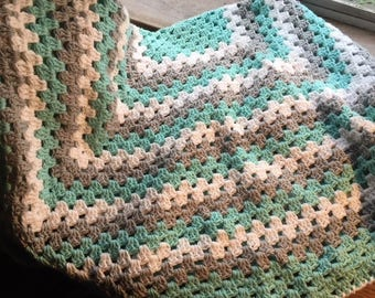 Hand Crochet Throw / Blanket  -  100% Cotton