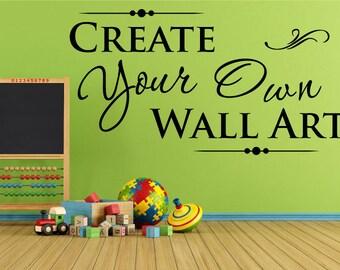 Custom Wall Decals | Etsy
